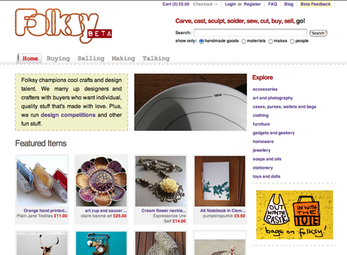 Folksy front page