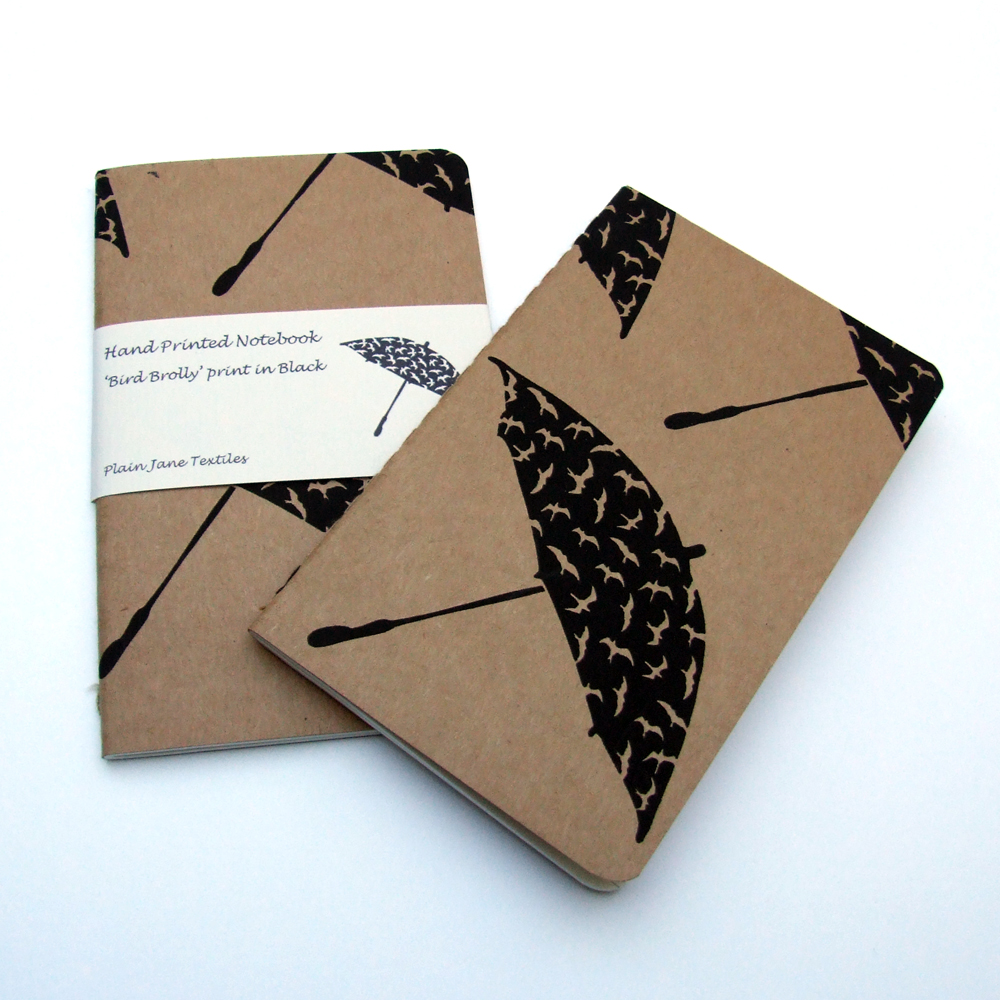 Bird Brolly notebook in black