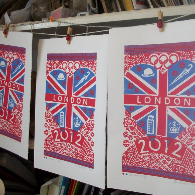 London City linocut