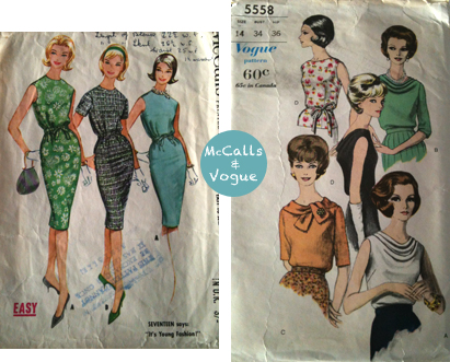 McCalls & Vogue patterns