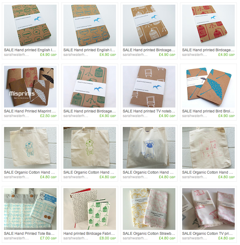 End of summer sale in my Etsy shop