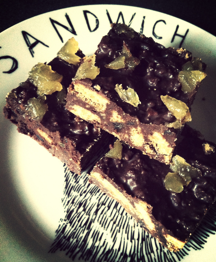 Chocolate and ginger fridge cake