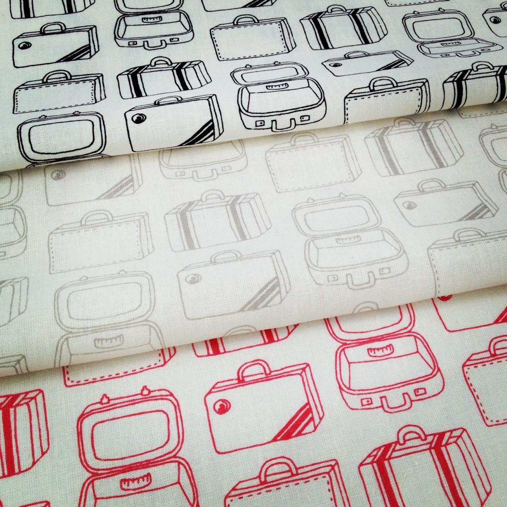 Suitcases fabric