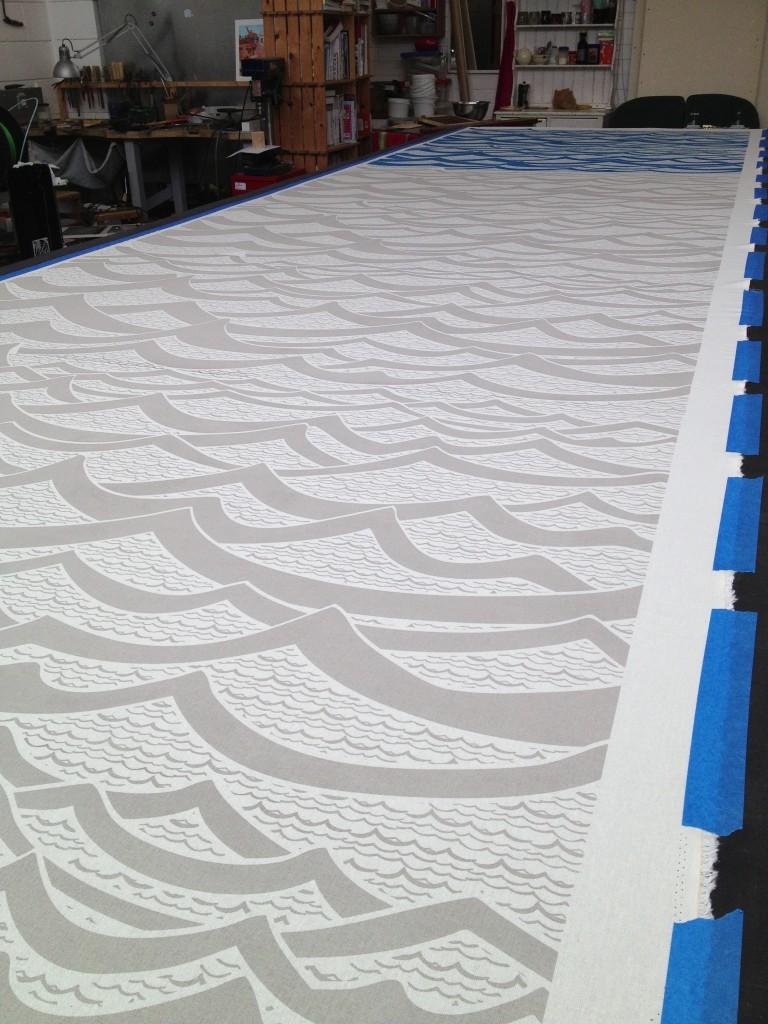 Waves in Slate Grey